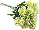 JIAJBG 10 Unids/Set Artificial Planta Simulación Flor Plástico Flores Falsas Jardinería Sala de Estar Decoración Blanco Para la decoración del hogar y la oficina.