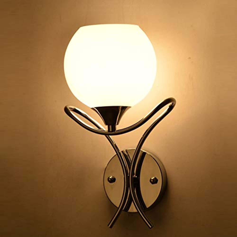 XY&XH Wandlampe, Moderne Glaswandleuchte Kurze Bauweise Führte Spiegel Wandleuchte Flur Schlafzimmer Wohnzimmer Nachttischlampe E27