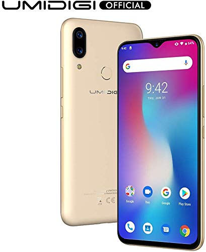 UMIDIGI Power Unlocked Cell Phones Android 9 Pie Smartphone 6.3' FHD+ 64GB ROM 4GB RAM 5150mAh Battery 18W Fast Charge Dual 4G Smartphone (Gold)