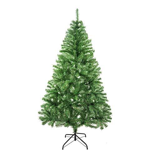Solagua Árbol de Navidad Artificial Abeto de Hoja Espumillón 120-210cm Arboles C/Soporte Metálico (Verde Brillo, 180cm 477Tips)