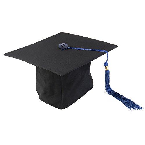 TENDYCOCO Sombrero de Estudiante Graduado Ajustable Gorra de Graduación Accesorio del Traje de Fiesta de Graduación para Adultos con Borla Azul