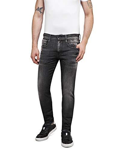Replay Herren Anbass Jeans, Grau (Dark Grey 97), W36/L34 (Herstellergröße: 36)