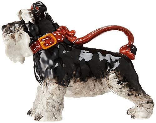 "Blue Sky Ceramic Terrier Dog Teapot, 11.5 x 5.5 x 9"", Grey"