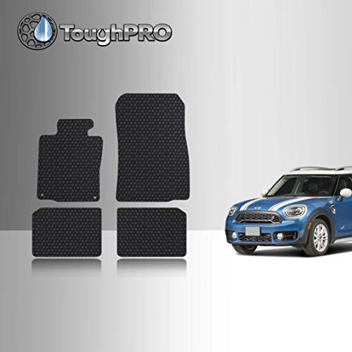 TOUGHPRO Floor Mat Accessories Set Compatible with Mini Cooper Countryman - All Weather - Heavy Duty - Black Rubber - (Made in USA) - 2010, 2011, 2012, 2013, 2014, 2015, 2016
