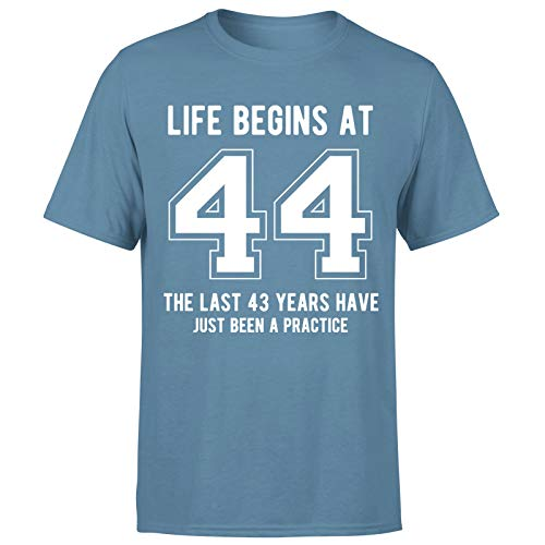 Life Begins at 44 Years Birthday Gift for Him - Camiseta de regalo para hombre