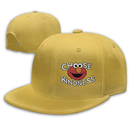LeoBird Elmo's World Baseball Hat Adjustable Six Panel Flat Cap for Mens Yellow
