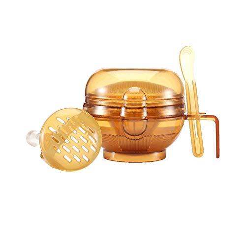 Multifunción Alimentación Infantil Manual Suplemento Grinder Alimentos recipiente de moler bebé Puré de cocina Máquina complementaria Kit de herramientas de oro 1 juego