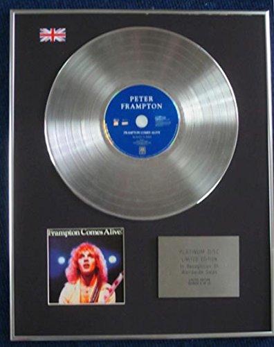 Century Presentations Peter Frampton – Limited Edition CD Platinum LP Disc – Frampton Comes Alive!