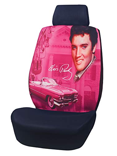 Midsouth Products Elvis Presley Pink with Guitars Universal Auto Seat Cover - 1 Pc