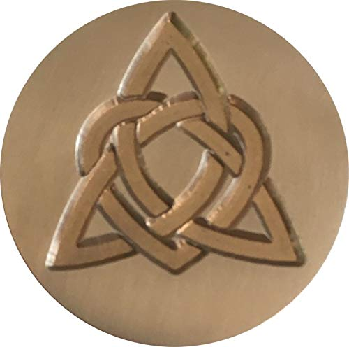 Celtic Heart Knot 1' Diameter Wax Seal Stamp by Seasons Creations