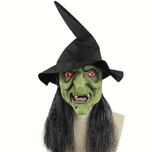 Máscara de Cabeza Completa de Miedo de Halloween Terror Demon Máscaras de Terror de Látex Cara de Payaso Cubierta Realista de la Cara del Diablo Disfraz de Halloween, Tamaño Universal,Style 29