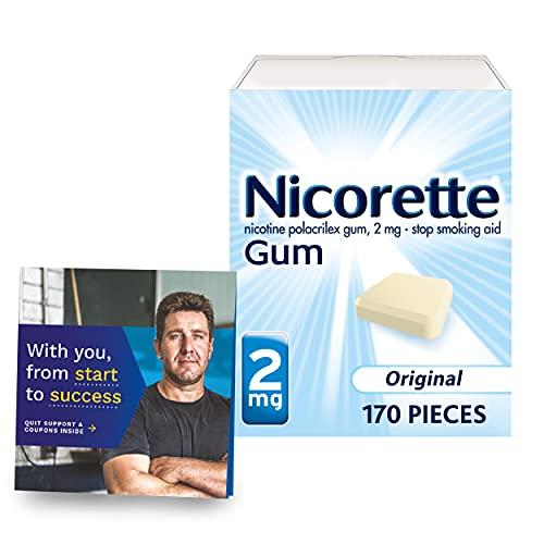 Nicorette 2mg Nicotine Gum to Help Quit Smoking Aid with Behavioral...