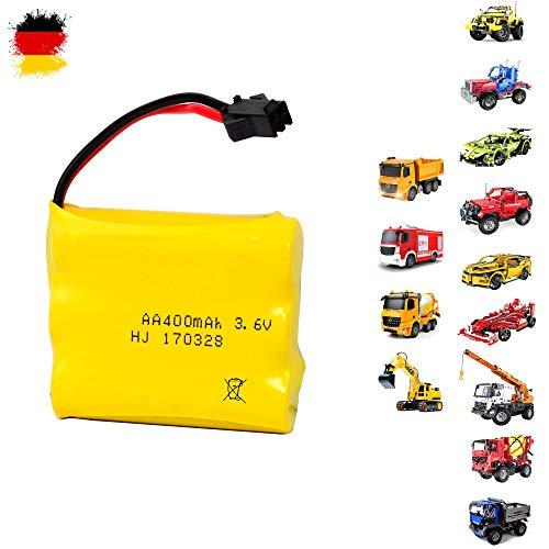HSP Himoto Original Akku mit 3.6V 400mAh für RC Fahrzeuge, DIY Baustein-Modelle, Autos u. a. C51003W, C51017W, C51002W, C51013W, E570-003, E571-003, E572-003 und E578-003