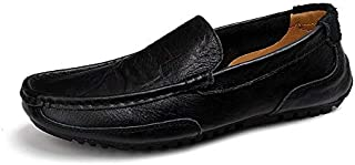 LUKEEXIN Men Shoes Luxury Brand Genuine Leather Casual Driving Shoes Men Loafers Moccasins Slip on Italian Shoes for Men Big Size