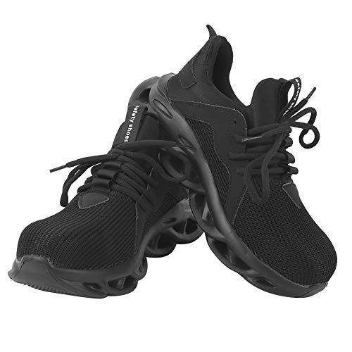 Zapatillas de trabajo transpirables, zapatos industriales impermeables, cabeza de acero antideslizante de seguridad antideslizante para sitios de minería Sitios de(45-45)