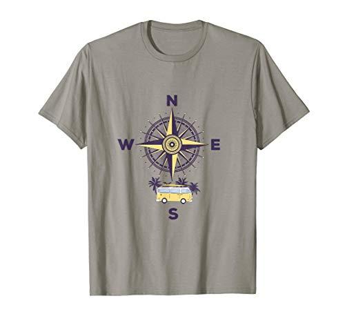 Kompass Und Reisen Im Van T-Shirt