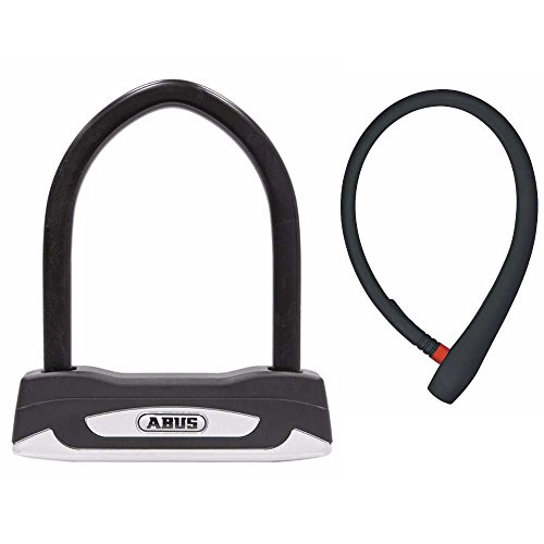 ABUS Granit X-Plus 54 Mini Key Bicycle U Lock and Lightweight 65cm uGrip Cable Lock Bike Security Kit