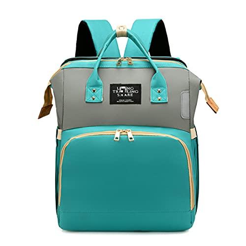 ATARSM Bolsa para Cambiar pañales para bebé 2 en 1, Cuna de Viaje Plegable, Bolsa para pañales para Cuna para bebé, Bolsa para Cambiar pañales con colchón