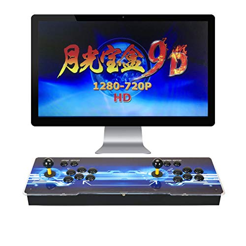 TAPDRA Pandora's Box 9 Joystick y Botones multijugador Arcade Console, Arcade Games Machines, 1500 Retro Video Games All in One,...