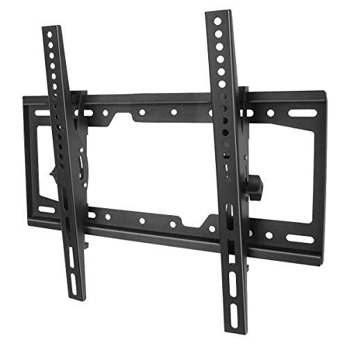 TV-Wandhalterung Neigbar für 26-55 Zoll LED, LCD, OLED, QLED und Plasma Flachbildfernseher, max. VESA 400x400mm Kapazität 40kg, inklusive Luftblasenstufe
