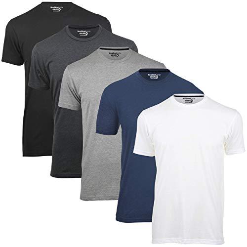 Kit 5 Camisetas Básicas Masculinas Slim Novastreet