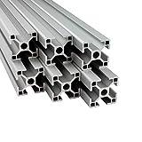 Alu Profil 6 Stück 30x30mm 2m System-, Montage-, Konstruktionsprofil Nut 8