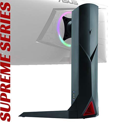 Oplite Supreme Monitor Stand Plus Universal-Halterung, drehbar, für Bildschirme mit 17 bis 32 Zoll, integrierte USB- und Audio-Anschlüsse