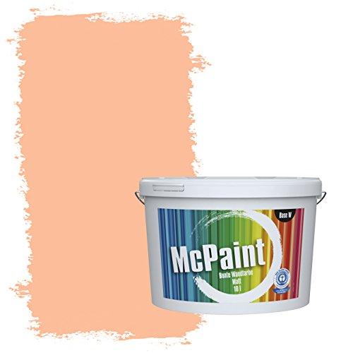 McPaint Bunte Wandfarbe Pfirsichorange - 10 Liter - Weitere Orange Farbtöne Erhältlich - Weitere Größen Verfügbar