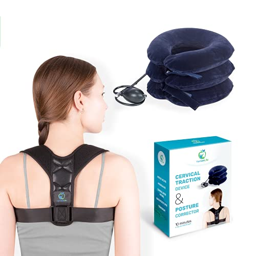 Unique Neck Stretcher Set – Posture Corrector and Neck Cervical...