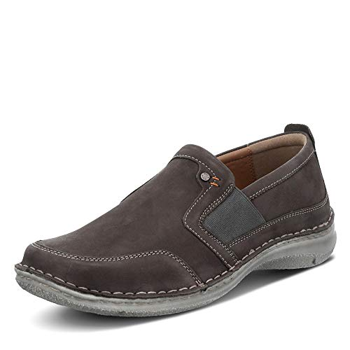 Josef Seibel Herren Slipper Anvers 71,Weite K (Extra weit),lose Einlage,Schuhe,Loafer,Businessschuhe,Slip-ons,Grau (anthrazit),42 EU / 8 UK