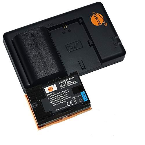 LP-E6N (2 pezzi) Batteria di ricambio ricaricabile e doppio caricatore compatibile con fotocamere LP-E6NH, LP E6N, Canon EOS R, EOS R5, EOS R6, XC10, XC15 LP-E6
