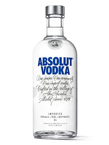 Absolut Vodka Original / Absolute Reinheit und einzigartiger Geschmack in ikonischer Apothekerflasche / Schwedischer Klassiker - ideal für Cocktails und Longdrinks / 1 x 3 L