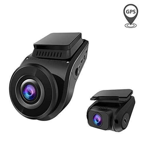 Dual Dash Cam, Vantrue S1 Front and Rear FHD 1080P+1080P GPS Dash Camera Single 4K Ultra HD Supercapacitor Dashcam for Cars, Night Vision, G-Sensor, Parking Mode, Motion Detection, Support 256GB Max