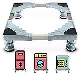 Waschmaschine Sockel Untergestell für Kühlschrank Verstellbare Sockel für Trockner, Waschmaschine und Kühlschrank(50-66CM)