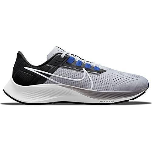 Nike Air Zoom Pegasus 38, Zapatillas para Correr Hombre, Wolf Grey/White-Black-Hyper Ro, 41 EU