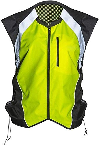Badass Moto High Vis Vest Reflective Motorcycle Vest. Yellow. SIZE Medium - Can Be Worn Over Med- Large Jackets. Adjustable Sides, Zipper Front & Pocket. Bikers, ATV, Hunting, Cycling, Military