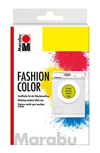 Marabu 17400023264 - Fashion Color, Textilfarbe zum Färben in der Waschmaschine, kochecht, für Baumwolle, Leinen und Mischgewebe, 30 g Farbstoff und 60 g Reaktionsmittel, pistazie