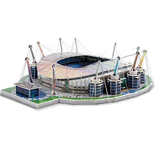Puzzle 130 Stück/Set Stadt Manchester Etihad F.c. Ru Fußballspiel Stadien Gebäude Modell Spielzeug Geschenk