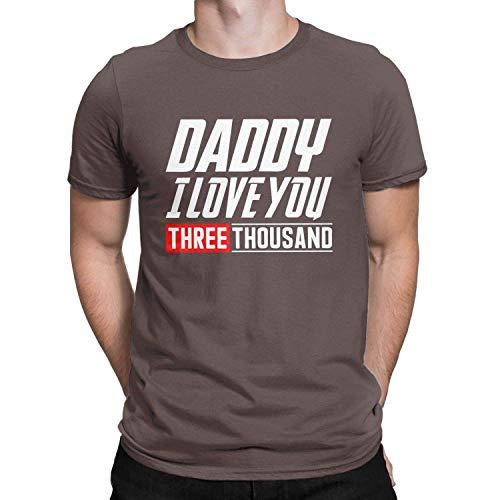 aiteweifuzhuangdian papa liebe sie 3000mal lustiges t shirt dad i love you fathers day tees tops für männer, 3x large, kaffee  bekleidung damen tops c 1_19 #11