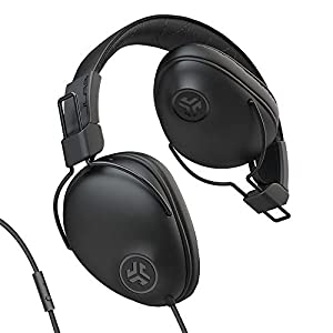 JLab Studio Pro Over-Ear Headphones   Wired Headphones   Tangle Free Cord   Ultra-Plush Faux Leather with Cloud Foam Cushions   40mm Neodymium Drivers with C3 Sound   Black