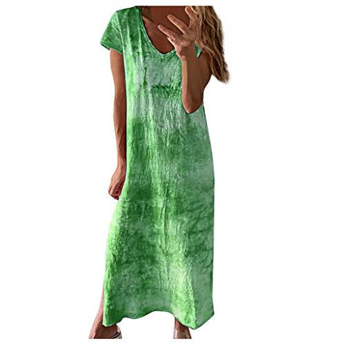 Hffan Damen Kleider Tshirt Kleid Sommerkleid für Damen Rundhals Brautkleid Langarm Minikleid Kleid Langes Shirt Lose Tunika mit Bowknot Ärmeln