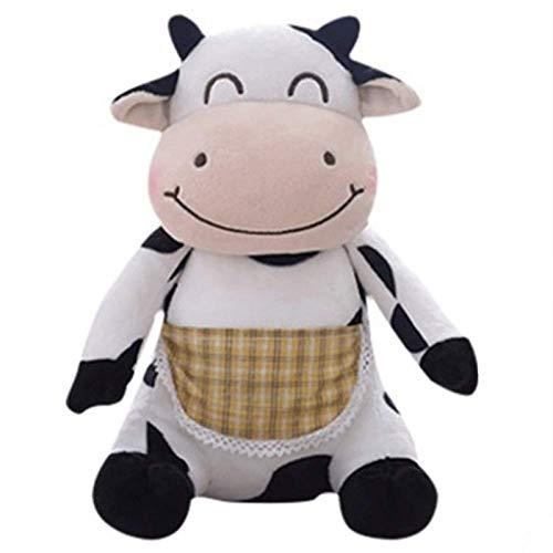 30 cm de Dibujos Animados de Felpa Animal Vaca abrazada Juguete de Peluche Realista Suave Animal muñeca cómoda Almohada cojín descompresión Juguete Muebles para el hogar
