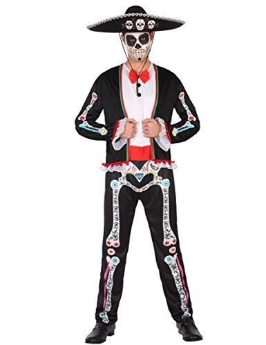 ATOSA disfraz esqueleto mejicano hombre adulto mariachi M