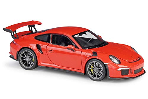 Price comparison product image Porsche 911 GT3 RS Orange 1 / 24-1 / 27 Diecast Model Car by Welly 24080