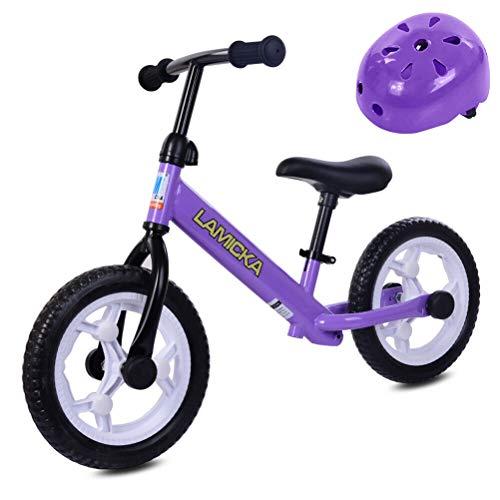 Bicicleta de Equilibrio para niños con Casco de Color Aleatorio Bicicleta de Entrenamiento para Caminar Bicicleta de Equilibrio para niños y niños pequeños de 2 a 6 años