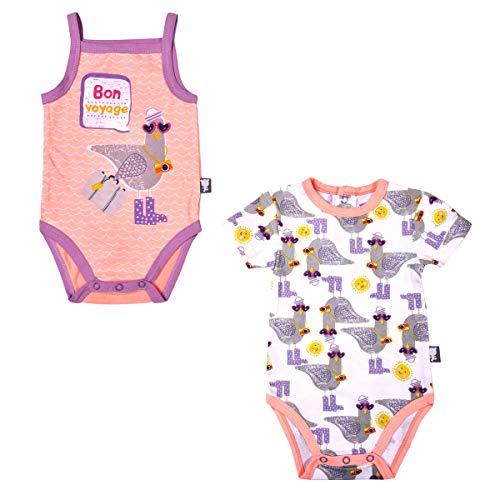 Lot de 2 bodies manches courtes bébé fille Riviera Girl - Taille - 6 mois (68 cm)
