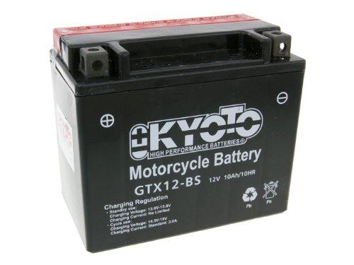 Batterie Kyoto 12V GTX12-BS MF wartungsfrei für Daelim S3 250 FI Advance Bj. 2013-2014 - inkl. 7,50 EUR Batteriepfand
