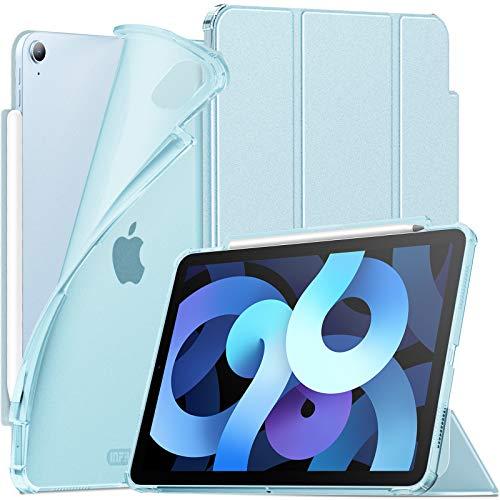INFILAND Funda Case para iPad Air 4 Generación,iPad 10.9 Inch 2020 Cover Soporte,[Auto-Reposo/Activación Cubierta] [Espalda translúcida Mate] [Carcasa Ligera] [Ultra Delgada Estuche],Baby Blue
