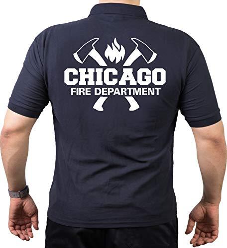 Feuer1 Polo Navy Chicago Fire Dept. Avec haches et emblème standard