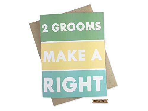 Two Grooms Make a Right Card